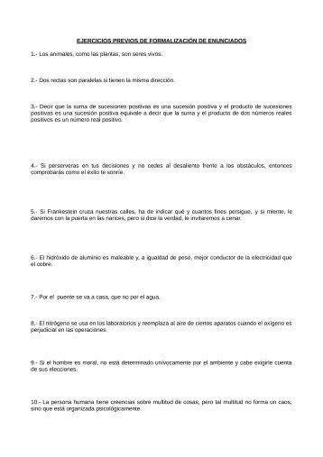 Ejercicios propuestos de formalización - I.E.S. Ricardo Marín