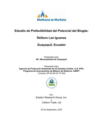 Relleno Las Iguanas Guayaquil, Ecuador - Global Methane Initiative