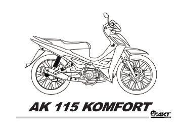 AK 115 KOMFORT - AKT Motos