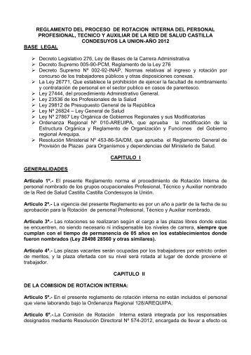 REGLAMENTO DEL PROCESO DE ROTACION ... - RedCCU