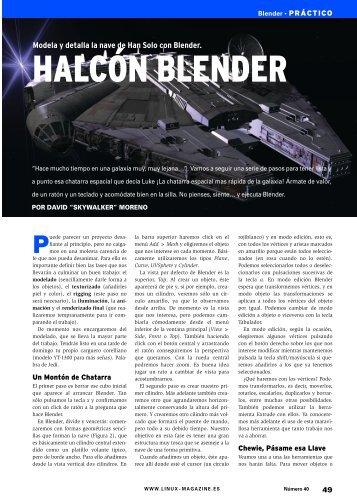 Halcón Blender: [PDF, 2320 kB] - Linux Magazine