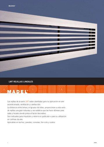 LMT REJILLAS LINEALES - Madel