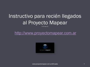 Instructivo para recién llegados al Proyecto Mapear