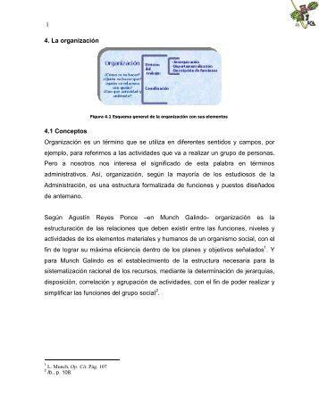 1 4. La organización 4.1 Conceptos Organización es un ... - FCA