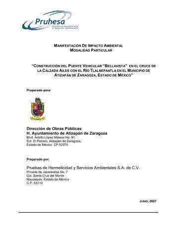"""""""Construcción del Puente Vehicular """"Bellavista ... - sinat - Semarnat"""
