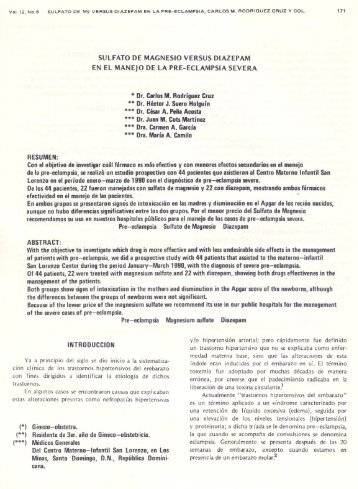 SULFATO DE MAGNESIO VERSUS DIAZEPAM EN EL MANEJO DE ...