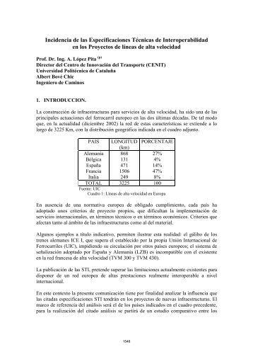 Incidencia de las Especificaciones Técnicas de ... - Aeipro
