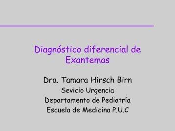 Diagnóstico diferencial de Exantemas - Medicina de Urgencia UC