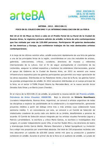 Descargar gacetilla de cierre en pdf - arteBA
