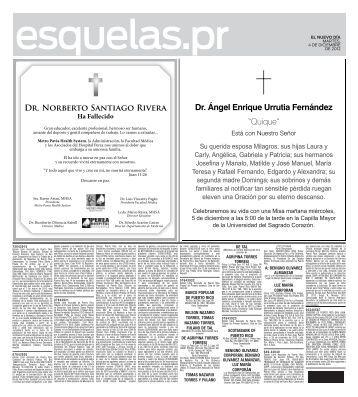 Dr. Norberto Santiago Rivera Ha Fallecido - El Nuevo Día