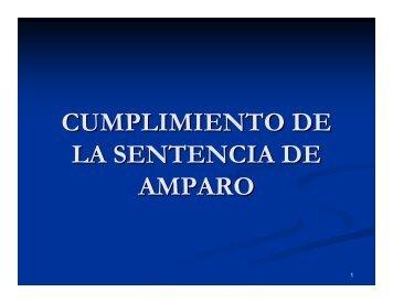cumplimiento de la sentencia de amparo - Tribunal Electoral del ...