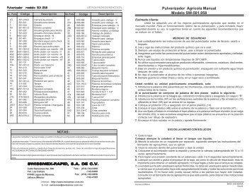 ASPERSORA MOCHILA 501 SWISSMEX.pdf - Plantas eléctricas ...