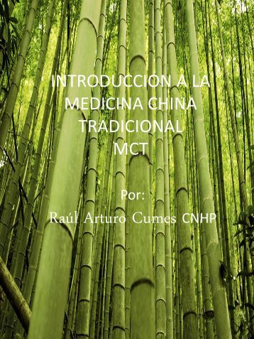 INTRODUCCION A LA MEDICINA CHINA TRADICIONAL CTM