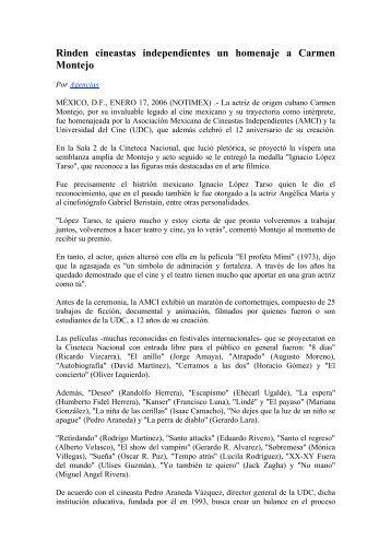 Ver Nota Completa - Asociación Mexicana de Cineastas ...