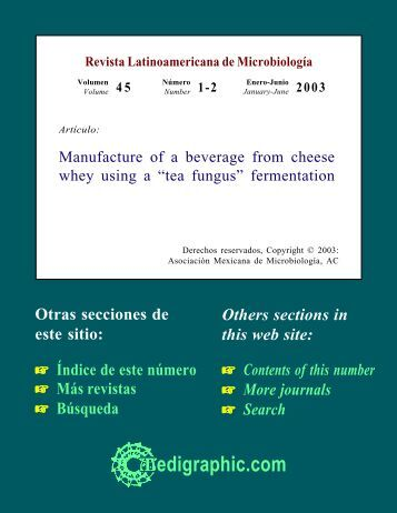Manufacture of a beverage from cheese whey ... - edigraphic.com