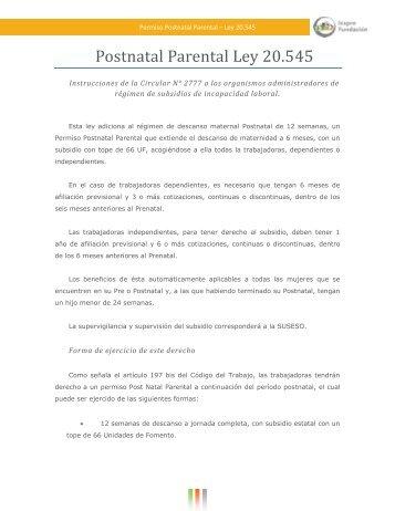 Postnatal Parental Ley 20.545