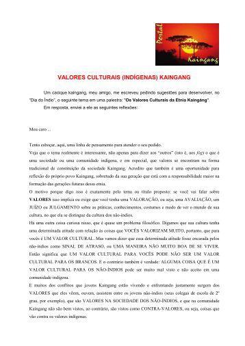 Pedido do Valmir Cipriano : - Portal Kaingang