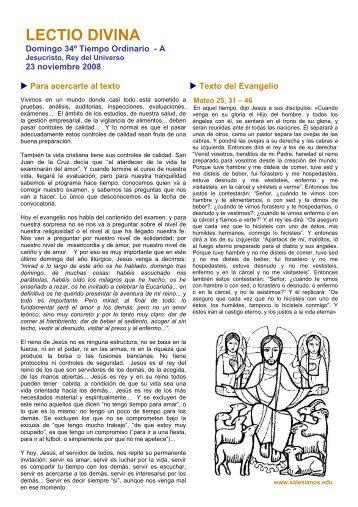 LECTIO DIVINA - Salesianos