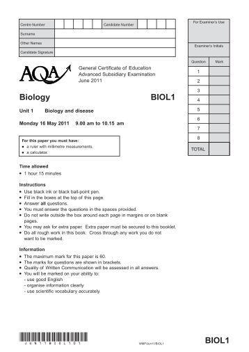 aqa biol w sqp 1h b1 Unit 1 b1 influences on life edexcel gcse science biology filestoreaqaorguk/subjects/aqa-biol-w-sqp-2fpdf pdf file.