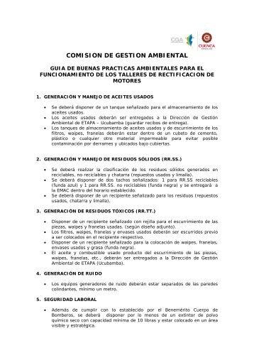 Guia para Rectificadoras de Motores - Comision de Gestion Ambiental