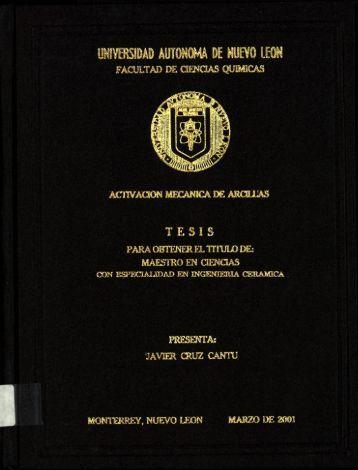 Activación mecánica de arcillas - cdigital - Universidad Autónoma ...