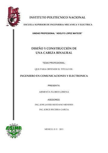 Diseño y Construcción de una Cabeza Binaural - Tesis en el IPN