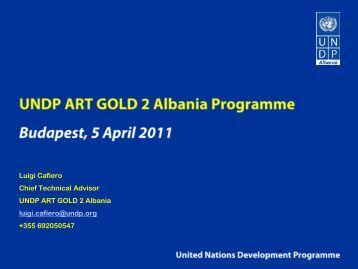 UNDP ART GOLD 2 Albania Programme by Luigi Cafiero - Housing Forum ...