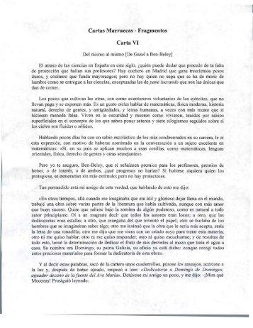 Cartas Marruecas - Fragmentos Carta VI