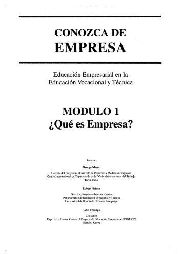 CONOZCA DE EMPRESA - OIT/Cinterfor
