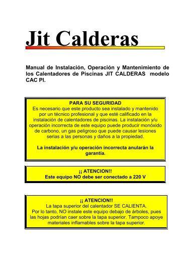 Manual t cnico calderas raypak novem for Tecnico calderas