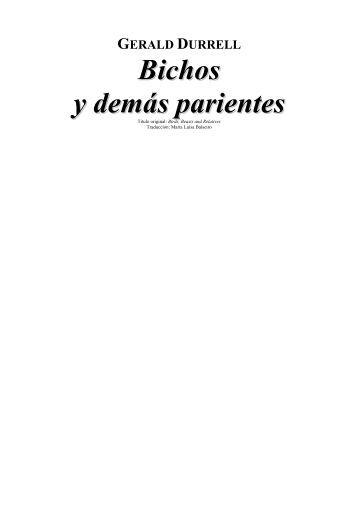 GERALD DURRELL - Fieras, alimañas y sabandijas - Galeón