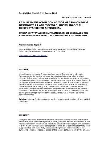 la suplementación con ácidos grasos omega-3 ... - Sopraval