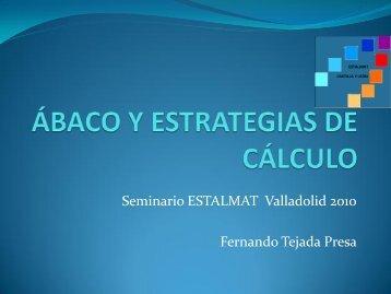 ABACO Y ESTRATEGIAS DE CÁLCULO