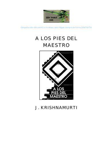 LOS PIES DEL MAESTRO - Zazen y maestros zen