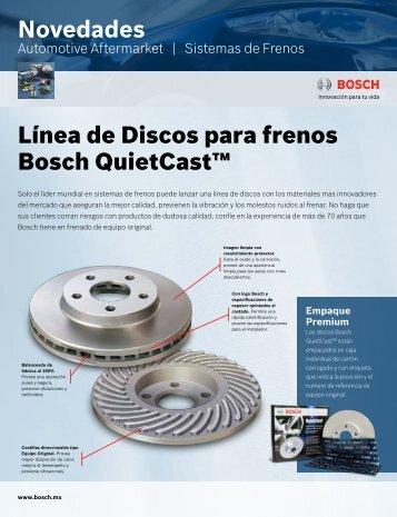 Novedades Línea de Discos para frenos Bosch QuietCast™
