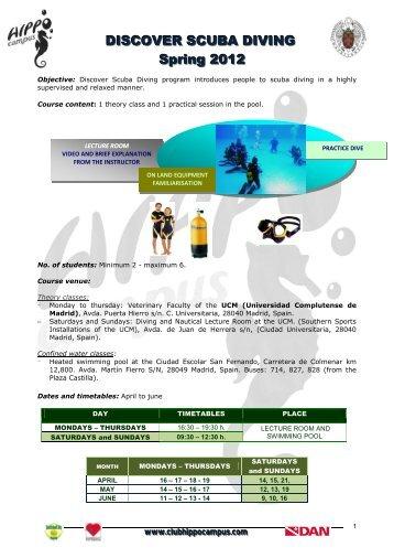 El Curso de Buceo Deportivo con escafandra autónoma, provee al ...