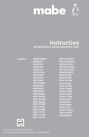 Manual de instalación - Mabe
