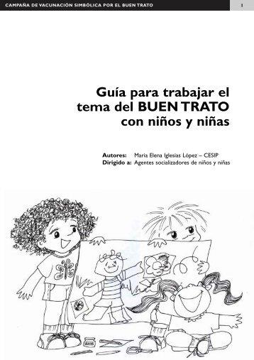 Guía para trabajar el tema del buen trato con niños y niñas