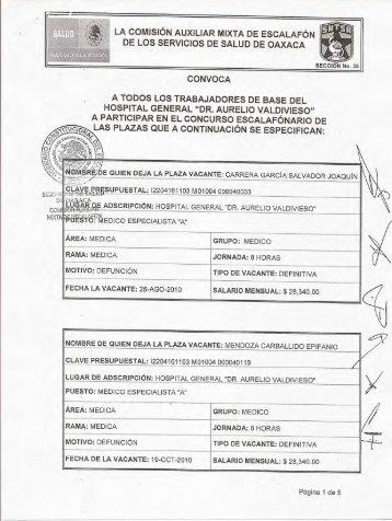 ¡gl-DE QUIEN DEJA LA PLAZA VACANTE - Saludoax-admon.com