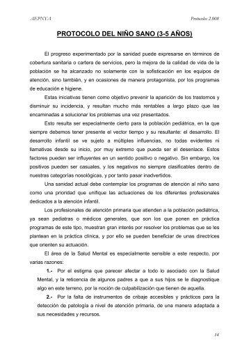 Niño sano 3-5 años - Asociación Española de Pediatría