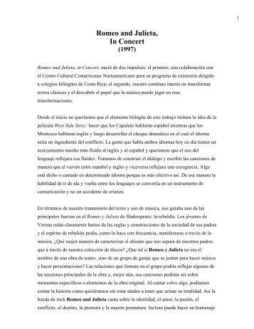 Romeo & Julieta, In Concert.pdf - Abya Yala