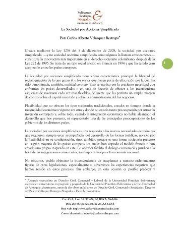 Sociedades por Acciones Simplificadas. - Cámara de Comercio de ...