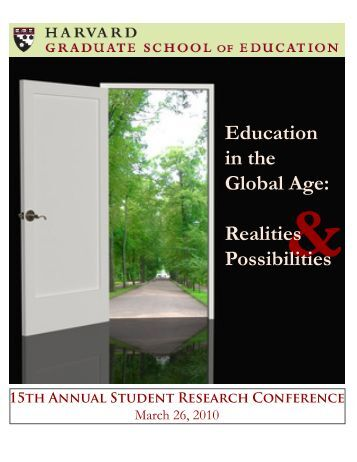 Education in the Global Age: Realities Possibilities - iSites - Harvard ...