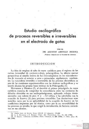 Estudio oscilográfico de procesos reversibles e irreversibles en el ...