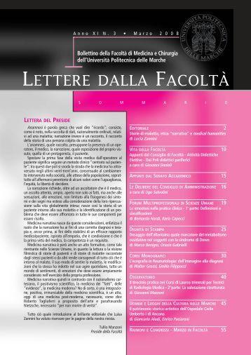 LETTERE facolta_3 - Facoltà di Medicina e Chirurgia - Università ...