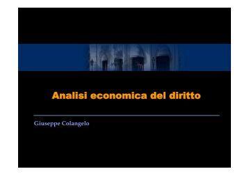 Analisi economica del diritto - Università degli Studi della Basilicata