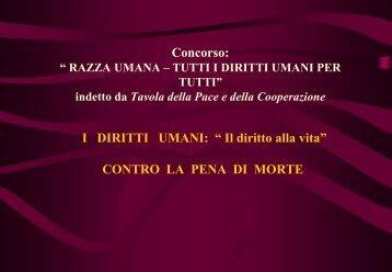 """Concorso: """" RAZZA UMANA – TUTTI I DIRITTI PER ... - G. Marconi"""