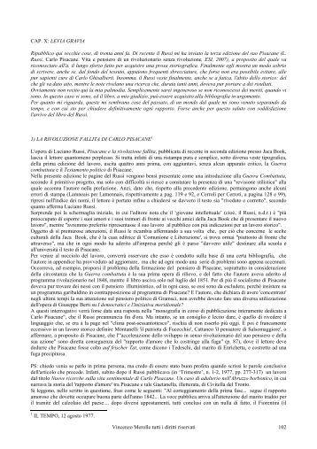 Vincenzo Merolle tutti i diritti riservati 102 CAP. X: LEVIA GRAVIA ...