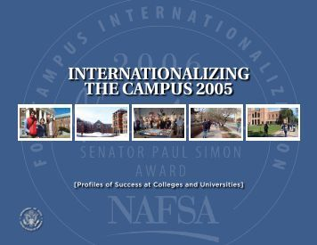 INTERNATIONALIZING THE CAMPUS 2005 - NAFSA