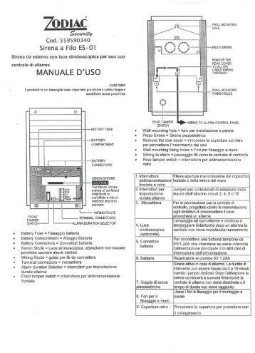 Sirene elettroniche SEL50W e SEL50X autoalimentate